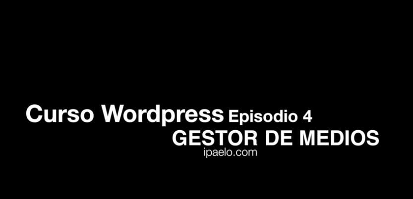 Curso WordPress Gestor de Medios
