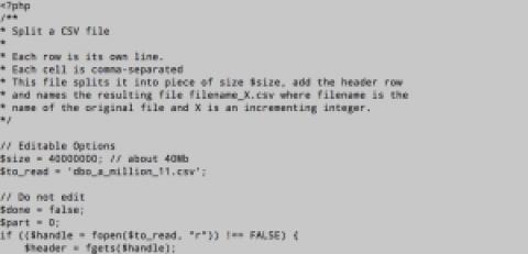 Como dividir un archivo csv en varios