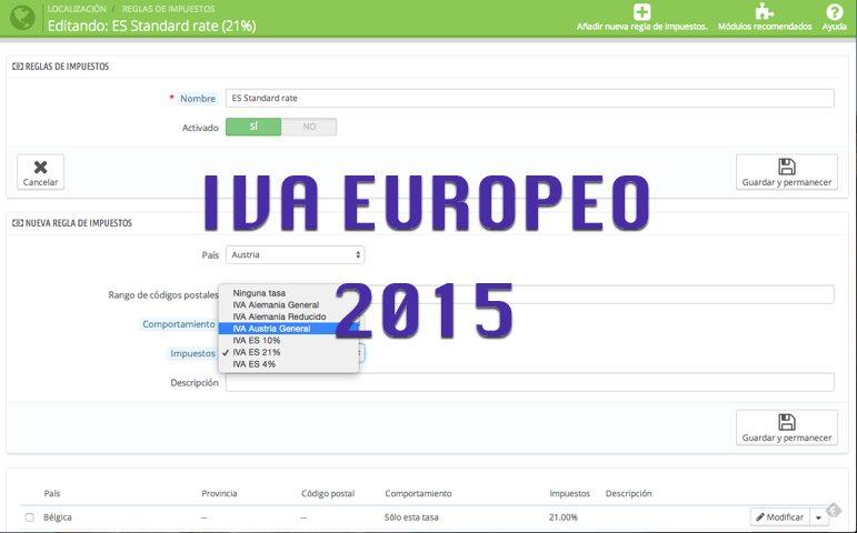 IVA EUROPEO 2015