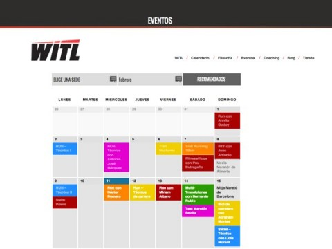 Nuevo proyecto:  Calendario de eventos para Where is the limit.