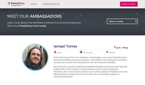 Soy Embajador de Prestashop en Málaga
