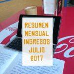 Resumen Ingresos Julio 2017
