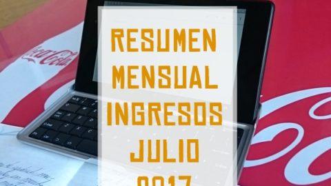 Resumen mensual Ingresos Julio 2017