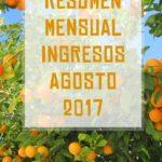 Resumen mensual ingresos Agosto 2017